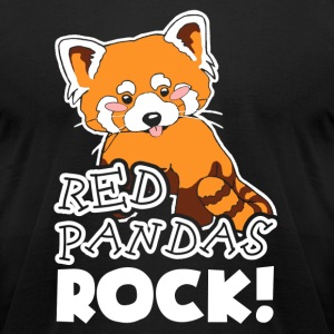 Red Pandas Rock Shirt - Men's T-Shirt by American Apparel