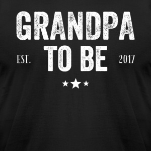 Grandpa to be 2017 - Men's T-Shirt by American Apparel