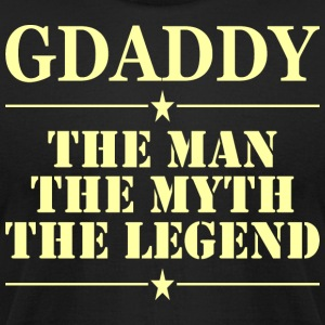 Gdaddy The Man The Myth The Legend - Men's T-Shirt by American Apparel