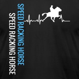 My heart beats with my horse - Men's T-Shirt by American Apparel