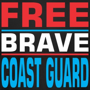 Free Brave Coast Guard - Men's T-Shirt by American Apparel