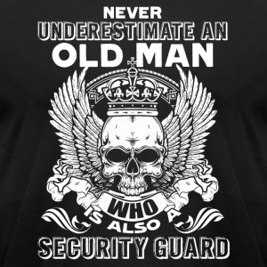 OLD MAN SECURITY GUARD SHIRT - Men's T-Shirt by American Apparel