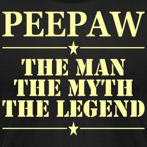 Peepaw The Man The Myth The Legend - Men's T-Shirt by American Apparel