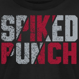 Volleyball Team Spiked Punch Design by CW Design - Men's T-Shirt by American Apparel