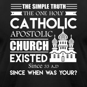 Catholic Tee Shirt - Men's T-Shirt by American Apparel