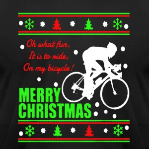 Bicycle Christmas Shirt - Men's T-Shirt by American Apparel