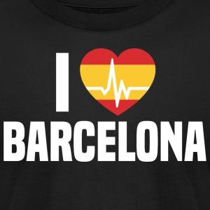 I love Barcelona Spain Espana - Men's T-Shirt by American Apparel