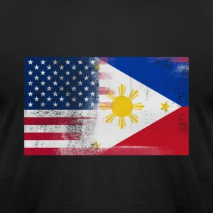 Filipino American Half Philippines Half America - Men's T-Shirt by American Apparel