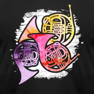 COLORFUL FRENCH HORNS SHIRT - Men's T-Shirt by American Apparel