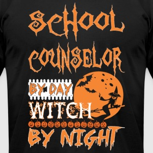 School Counselor By Day Witch By Night Halloween - Men's T-Shirt by American Apparel
