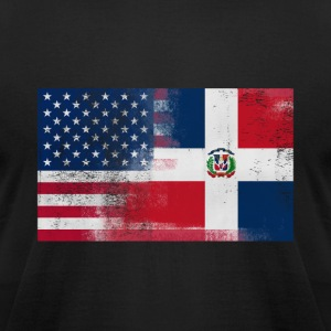 Half Dominican Half American 100% Awesome Dominica - Men's T-Shirt by American Apparel