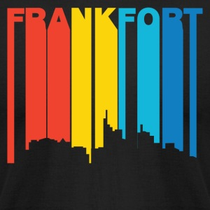 Retro 1970's Style Frankfort Kentucky Skyline - Men's T-Shirt by American Apparel