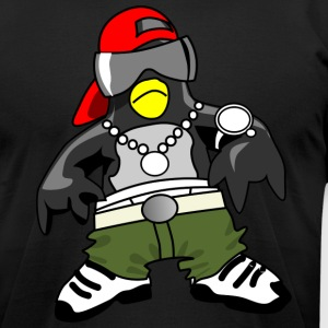PENGUIN RAPPER HIP HOP ARTIST TEARING UP THE MUSIC - Men's T-Shirt by American Apparel