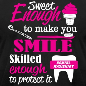 Sweet enough to make you smile skilled enough to p - Men's T-Shirt by American Apparel