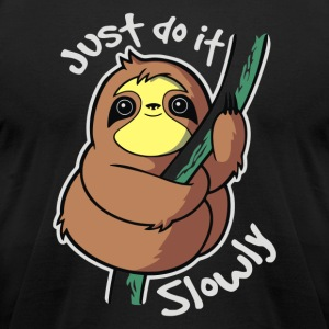 Slow Sloth - Men's T-Shirt by American Apparel