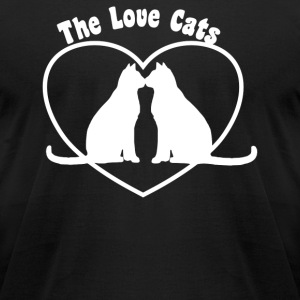 Valentine's Day Love Cats - T-shirt pour hommes American Apparel