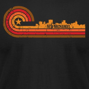Retro Style New Archangel Alaska Skyline - T-shirt pour hommes American Apparel