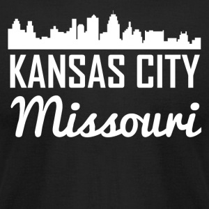 Kansas City Missouri Skyline - Men's T-Shirt by American Apparel
