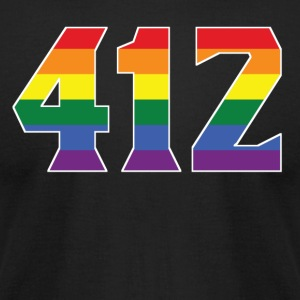 Gay Pride 412 Pittsburgh Area Code - Men's T-Shirt by American Apparel