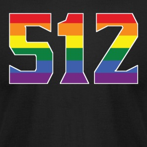 Gay Pride 512 Austin Area Code - Men's T-Shirt by American Apparel