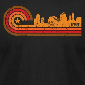 Retro Style Tempe Arizona Skyline Distressed - Men's T-Shirt by American Apparel