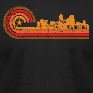 Retro Style New Orleans Louisiana Skyline - Men's T-Shirt by American Apparel