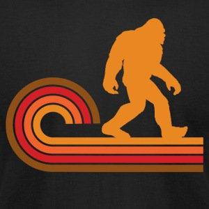 Retro Style Bigfoot Silhouette Sasquatch - Men's T-Shirt by American Apparel