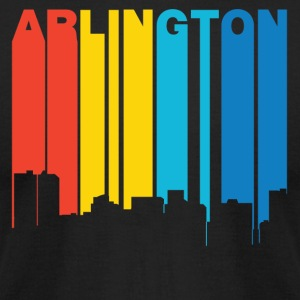 Retro 1970's Style Arlington Texas Skyline - Men's T-Shirt by American Apparel