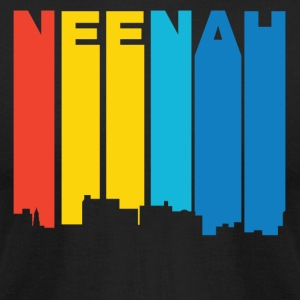 Retro 1970's Style Neenah Wisconsin Skyline - Men's T-Shirt by American Apparel