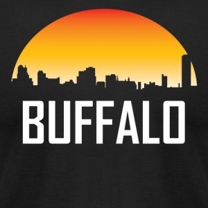Buffalo New York Sunset Skyline - Men's T-Shirt by American Apparel