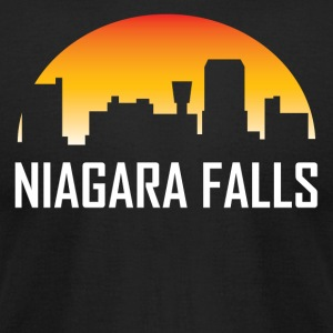 Niagara Falls New York Sunset Skyline - Men's T-Shirt by American Apparel