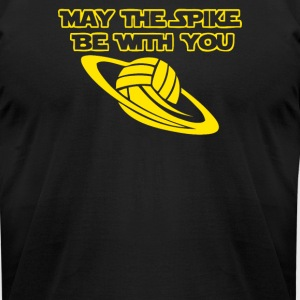 Spike be with you Volleyball - Men's T-Shirt by American Apparel