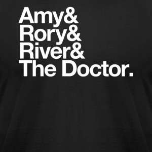 Amy & Rory & River & The Doctor. - Men's T-Shirt by American Apparel