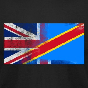 British Congolese Half Congo Half UK Flag - Men's T-Shirt by American Apparel