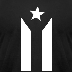 Puerto Rican Black and White Flag - Men's T-Shirt by American Apparel