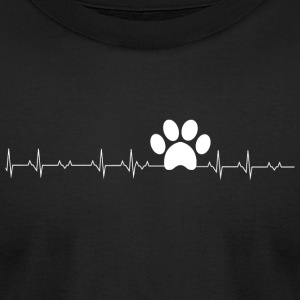 Paw Print - Paw Print Heartbeat - Men's T-Shirt by American Apparel