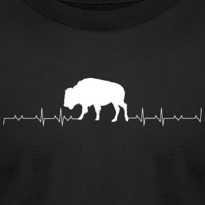 Bison - Bison Heartbeat - Men's T-Shirt by American Apparel