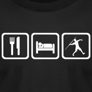 Javelin - Funny Eat Sleep Javelin Repea - Men's T-Shirt by American Apparel
