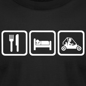 Dune - Funny Eat Sleep Dune Buggy Repea - Men's T-Shirt by American Apparel