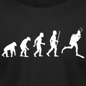 Scuba Diving - Evolution of Scuba Diving - Men's T-Shirt by American Apparel