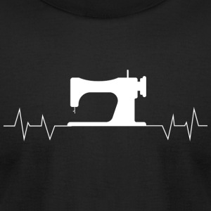 Quilter - Quilter Heartbeat Sewing - Men's T-Shirt by American Apparel