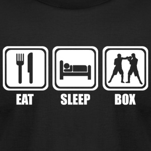Boxing - Eat Sleep Boxing - Men's T-Shirt by American Apparel