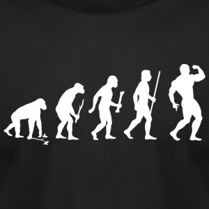 Bodybuilding - Bodybuilding Pose Evolution - Men's T-Shirt by American Apparel