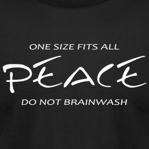 Peace - Peace -- One Size Fits All - Men's T-Shirt by American Apparel