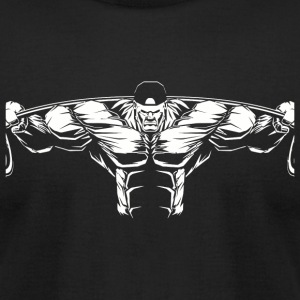Powerlifting - Powerlifting Gym Workout Body Bui - Men's T-Shirt by American Apparel