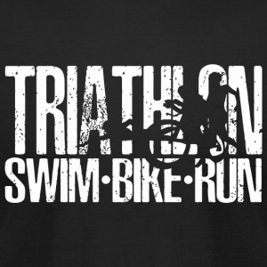 Triathlon - Triathlon Swim Bike Run Tshirt - Men's T-Shirt by American Apparel