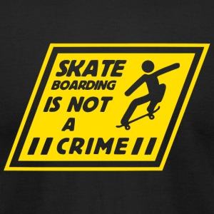Skateboarding - Skateboarding Is Not A Crime - Men's T-Shirt by American Apparel
