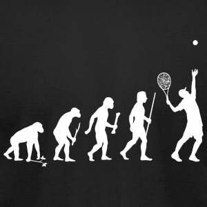 Tennis - Evolution of Man and Tennis - Men's T-Shirt by American Apparel