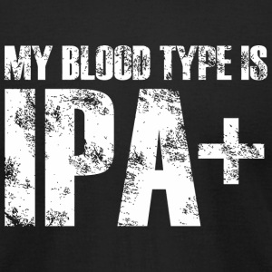 IPA+ - MY BLOOD TYPE IS IPA+ - Men's T-Shirt by American Apparel