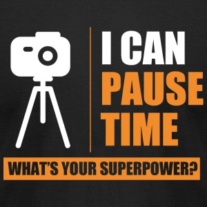 - i can pause time what's your superpower - Men's T-Shirt by American Apparel